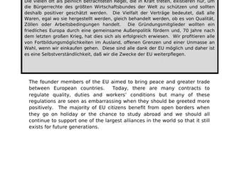 EU - translation into German.