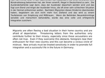 Integration - translation into German.