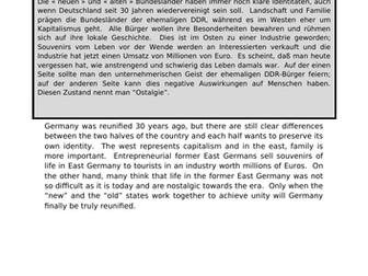 Wiedervereinigung - translation into German.