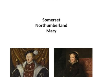 Edward VI and Mary I revision booklet