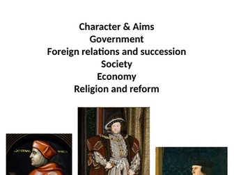 Henry VIII revision booklet