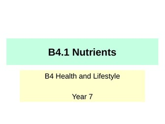 Activate KS3 Science - B4 Health and Lifestyle