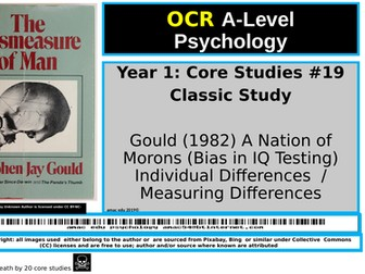 OCR A-Level Psychology: Core Study #19, Classic Study, Gould (1982) A Nation of Morons