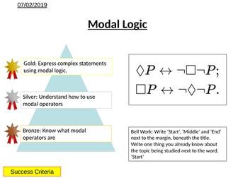 Logic - Modal Logic