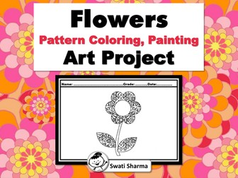 Spring, Flowers, Pattern Coloring, Painting, Art Project, Calm Down Activity