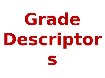 Spanish grade descriptors (NEW)