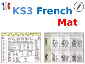 French KS3 Learning Mat