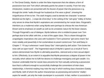 AQA A-Level Exemplar Comparison: Desire in Gatsby/La Belle Dame Sans Merci