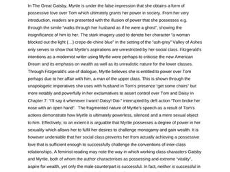 AQA A-Level Exemplar Comparison: Possessive Love in Gatsby/La Belle Dame Sans Merci