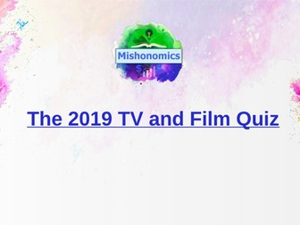 The 2019 TV and Film Quiz