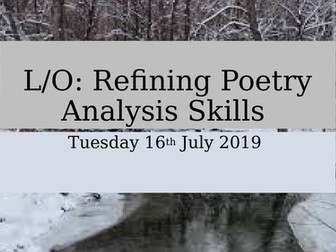 AQA English Literature Poetry Love and Relationships