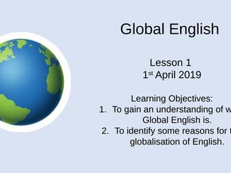 AQA A-Level English Language Global English/World English Lessons