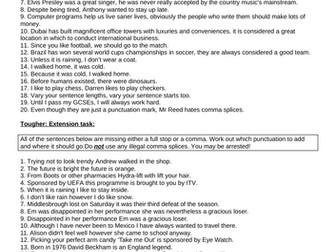 £1 lessons #2 Comma Splices