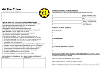 £1 lessons #4 The Colon