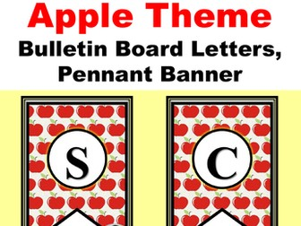 'Welcome Back to School', Apple, Bulletin Board Letters, Pennant Banner