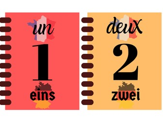 French and German numbers display