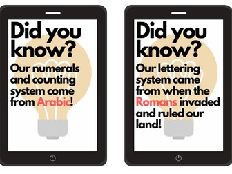 MFL facts to display around room