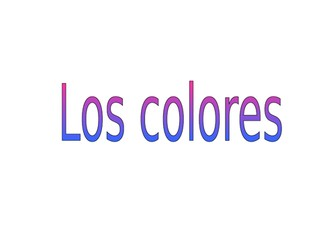 Los colores interactive lesson activities Spanish colours beginners
