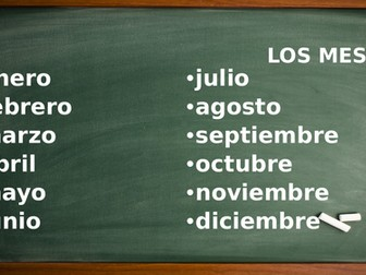 Resource pack - months, numbers, dates & days of the week Spanish beginners