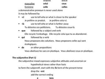 D'accord 2 Unité 6 Study Guide