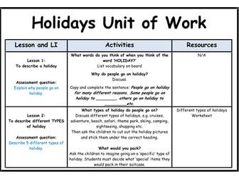 Holidays - Unit of Work