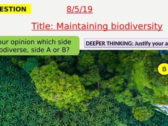 AQA new specification-Maintaining biodiversity-B17.6
