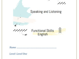 Functional Skills English Speaking and Listening - level 1