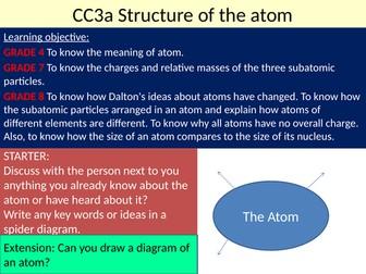 EDEXCEL GCSE Science 9-1 - Chemistry - CC3 Atomic structure & CC4 The periodic table