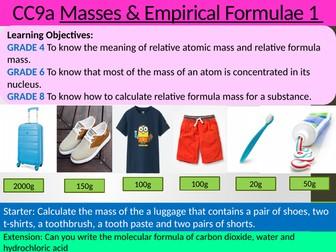 EDEXCEL GCSE Science 9-1 - Chemistry - CC9 Calculation involving masses