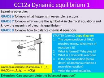 EDEXCEL GCSE Science 9-1 - Chemistry -  CC12 & CC15 topic