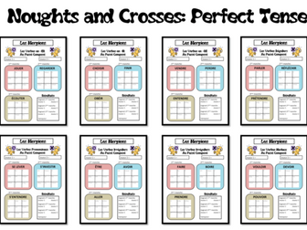 Morpions/Noughts and Crosses-Grammar/Conjugation Game-Perfect Tense-French KS3 to KS5