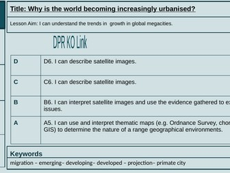Lesson 1: Why is the world becoming increasingly urbanised?