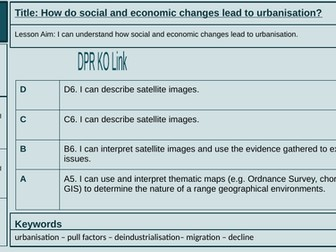 Lesson 2: How do social and economic changes lead to urbanisation?