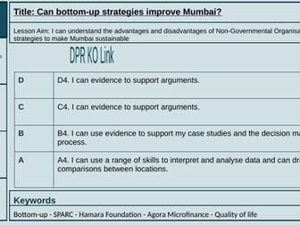 Lesson 12: Can bottom-up strategies improve Mumbai?