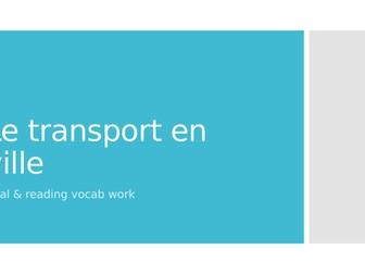 Les transports en ville interactive oral vocab exercises