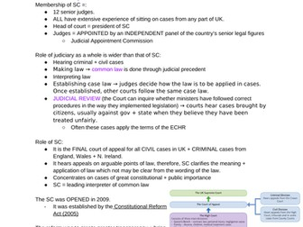 Relations between branches A-level Politics notes