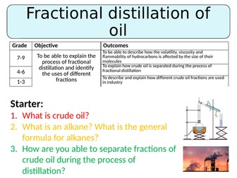 NEW AQA GCSE  Chemistry (2016) - Fractional Distillation