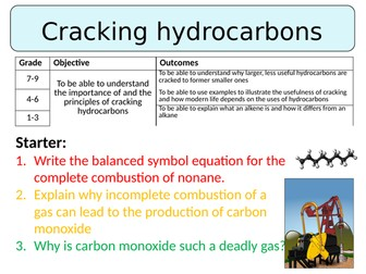 NEW AQA GCSE (2016) Chemistry  - Cracking hydrocarbons