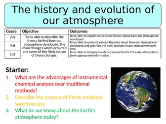 NEW AQA GCSE (2016) Chemistry - The History & Evolution of Our Atmosphere