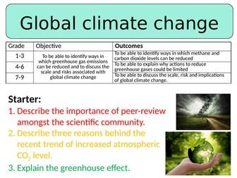 NEW AQA GCSE (2016) Chemistry  - Global Climate Change