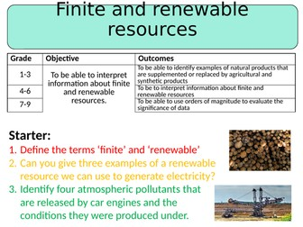 NEW AQA GCSE (2016) Chemistry  - Finite & Renewable Resources