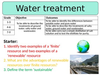 NEW AQA GCSE (2016)  Chemistry - Water Treatment