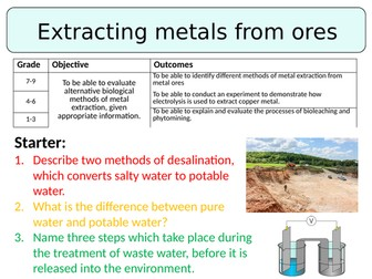 NEW AQA GCSE (2016) Chemistry - Extracting metals from ores