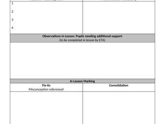Planning/Marking document