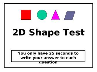 2D Shape Test