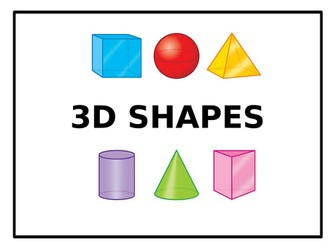 **3D Shapes - PowerPoint**
