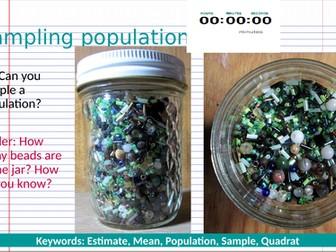 Sampling Populations - quadrats