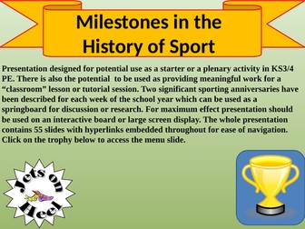 Milestones in the History of Sport