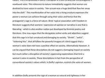 AQA Feminine Gospels Loud Exemplar Paragraphs