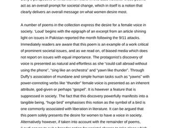 AQA Feminine Gospels Exemplar Response: What Women Want